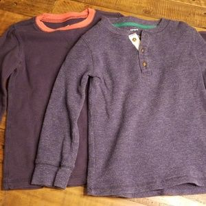 Carters waffle knit pull-overs